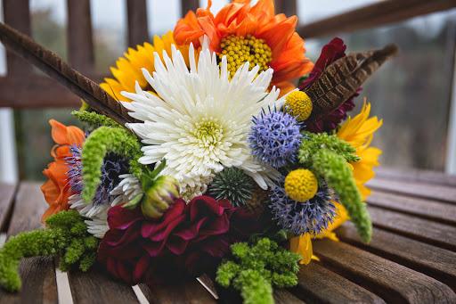colorful boho bouquet