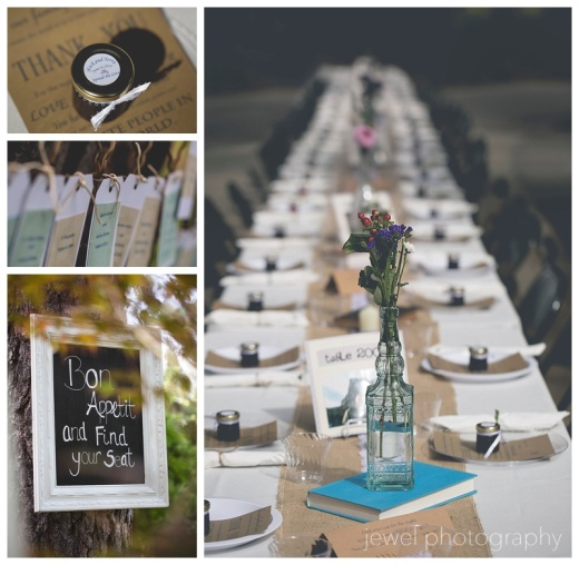 wedding farm tables
