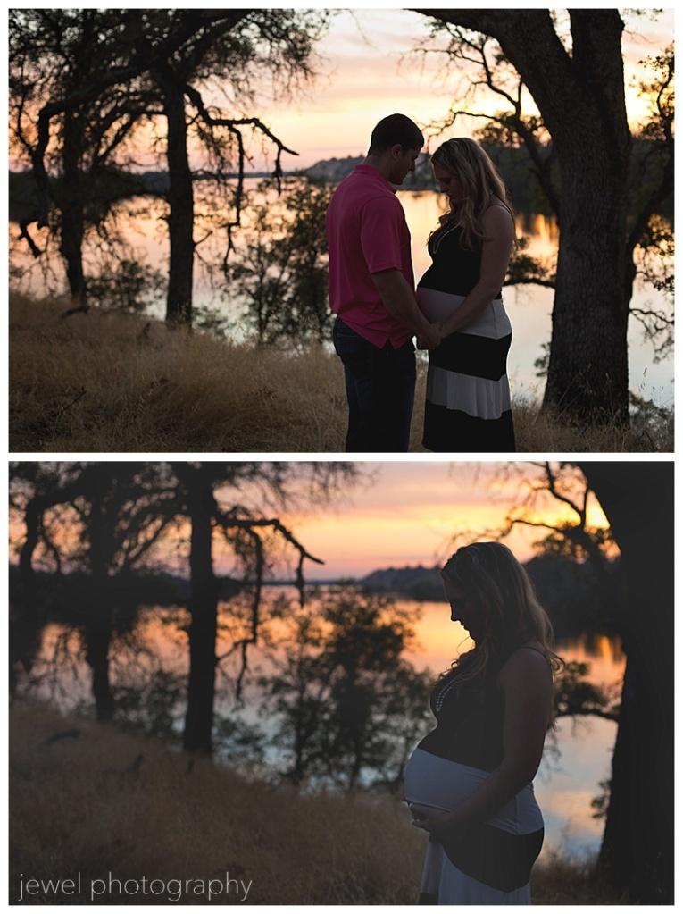 couple maternity sunset photograpy