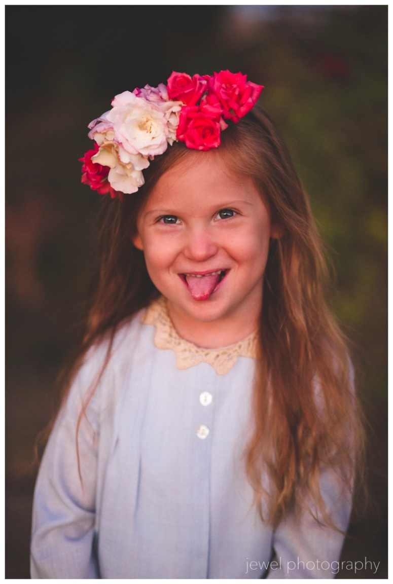 silly flower girl