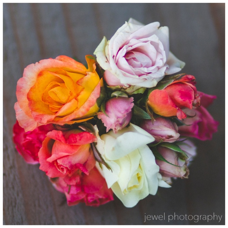 flower girl rose bouquet