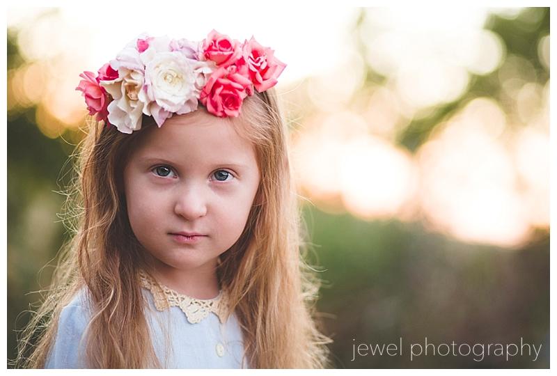 flower girl rose crown