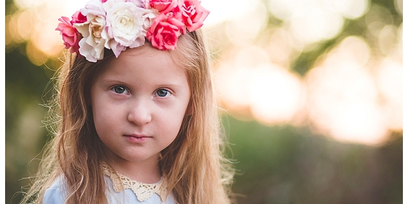 flower girl rose crown