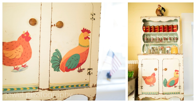 vintage chicken cupboard