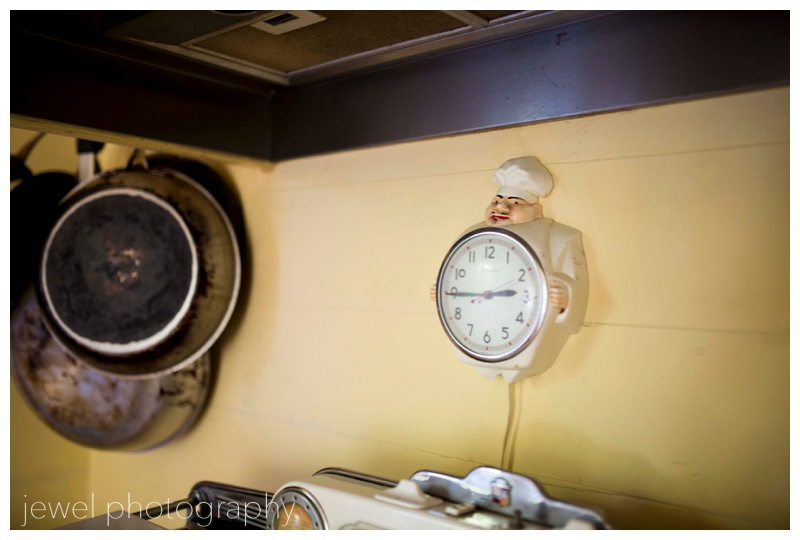 vintage chef wall clock