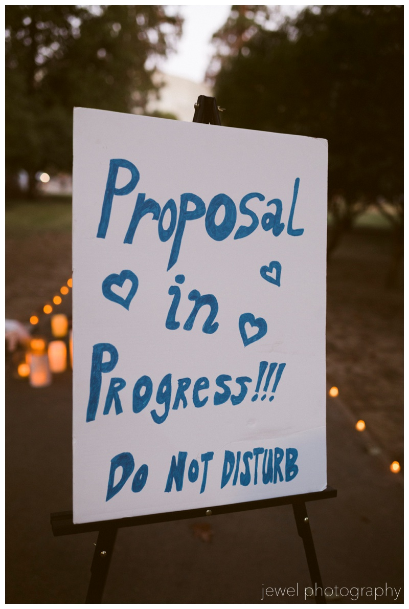 wedding proposal sign