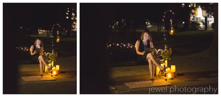 marriage proposal in the park