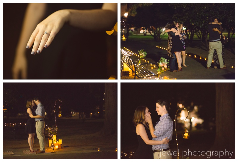 marriage proposal at park